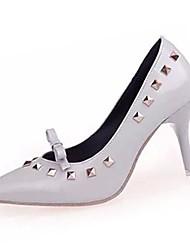 Damen-High Heels-Lässig-PU-Stöckelabsatz-Absätze-Schwarz / Rot / Grau