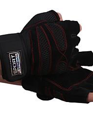 тренажерный зал упражнения гантели по тяжелой атлетике спортивные перчатки половину палец перчатки половина перчатки кожаные наручи
