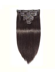 100% real indiano extensões de cabelo humano clipe no africano americano trama do cabelo humano em linha reta preta 8 '' - 30 ''