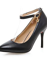 Calçados Femininos - Saltos - Saltos / Bico Fino - Salto Agulha - Preto / Rosa / Vermelho / Branco - Courino -Escritório & Trabalho /