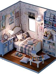Sonnenschein DIY handgemachte Hütte 3d Montage Modell warmes Haus Geburtstagsgeschenk