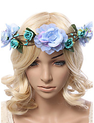 Women's Polyester / Fabric Headpiece-Wedding / Outdoor Handmade Flowers Birdal Wreaths 1 Piece