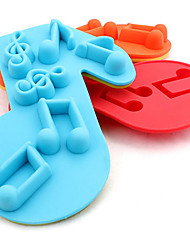 Silicone Musical Notes  Mould Cake Fondant Icing  Cupcakes Mold Ice Cube Tray(Random Color)