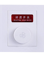 Concealed Wall Switch Socket Panel Switch Fan Speed Regulator