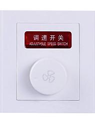 interruptor de parede escondido interruptor do painel soquete regulador de velocidade do ventilador