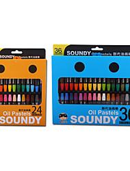 36 couleurs sécuritaire non toxique pastel à l'huile pour les enfants