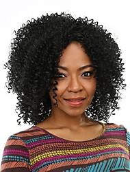 faux cheveux pas cher perruque noire chaleur bouclés crépus perruques synthétiques résistant