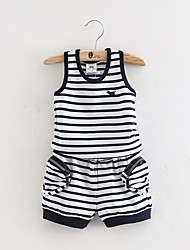 The New Children'S Clothing Boys Suit Children Striped Vest Short Pants