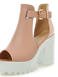 Women's Shoes Chunky Heel Peep Toe Platform Sandals More Color Available