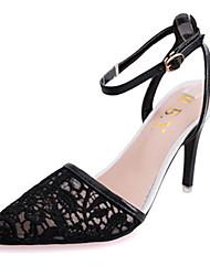 женская обувь кружева / лаковая кожа шпильках пятки пятки / острый носок сандалии офис&карьера / партия&вечернее платье