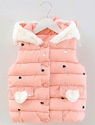 FanXingBeiYiGirl's Casual/Daily Solid Vest,Polyester Winter Green / Pink / Red