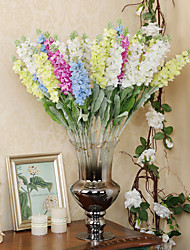Hi-Q 1Pc Decorative Flowers Real Touch 4Colors Mini Delphinium For Wedding Home Table Decoration Artificial Flowers