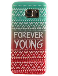 Pour Samsung Galaxy S7 Edge Motif Coque Coque Arrière Coque Mot / Phrase Flexible PUT pour SamsungS7 edge S7 S6 edge S6 S5 Mini S5 S4