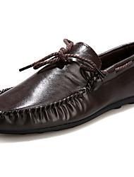 Для мужчин Топ-сайдеры Удобная обувь Мокасины Хлопок Полиуретан Весна Осень Повседневные Для прогулок Удобная обувь МокасиныНа плоской