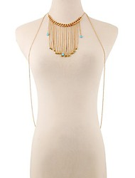Gold Plated Body Chain Party / Daily / Casual 1pc