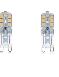 4W G9 Luci LED Bi-pin T 14 SMD 2835 300-400LM lm Bianco caldo / Luce fredda Decorativo / Impermeabile AC 220-240 / AC 110-130 V 2 pezzi
