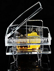 Crystal Piano Music Box