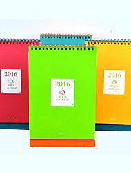 Simple Desktop Calendar Planning Notebook(Random Colors)