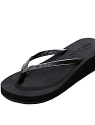 Women's Slippers & Flip-Flops Summer Flip Flops PU Casual Wedge Heel Others Black / Brown / Beige