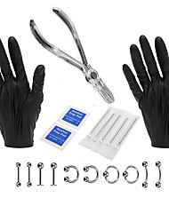 Disposable clamp shut piercing suit tattoo piercing 20 sets of professional body piercing tool