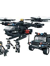 Toys For Boys Building Blocks Blocks Model & Building Toy Fighter Plastic Above 6 Blue