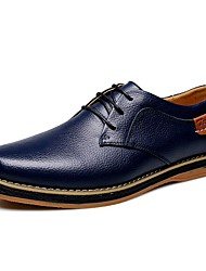 Men's Shoes Amir New Style Hot Sale Party / Office Black / Navy / Orange / Brown Comfort Leather Oxfords