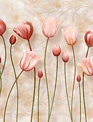 Fleur / Décoration artistique Papier peint Contemporain Revêtement , Toile Matériel adhésif requis Mural , Chambre Wallcovering