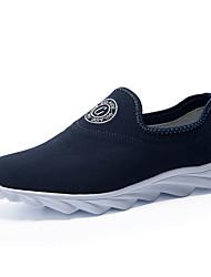 Men's Summer Comfort Fabric Casual Flat Heel Blue / Gray
