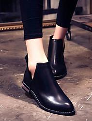 Women's Shoes PU Spring / Summer / Fall / Winter Combat Boots Boots Outdoor Platform Zipper Black / Gray / Burgundy