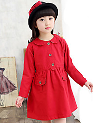 Girl's Wild Popular Solid Trench Coat