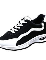 sapatos masculinos velo sapatilhas da forma atléticas de tênis atlético planas salto outros preto / verde / preto e branco