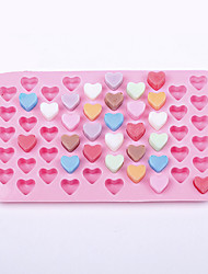 55 Holes Silicone Chocolate Ice Mold Heart Shape Silicone Cake Mould