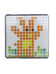 1PCS Template Clear Pegboard 7.5*7.5cm Square for 5mm Hama Beads Fuse Beads
