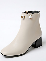Women's Boots Fall / Winter Heels / Fashion Boots / Square Toe Office & Career / Dress / Casual Chunky Heel Zipper