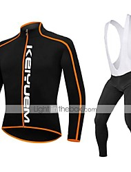 KEIYUEM®Spring/Summer/Autumn Long Sleeve Cycling Jersey+Long Bib Tights Ropa Ciclismo Cycling Clothing Suits #L95