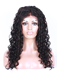 Grade 9A Brazilian Virgin Hair Full Lace Wig Kinky Curly Hair Natural Black Color Virgin Human Hair Lace Wig Curly Hair With Adjustable Strap Back