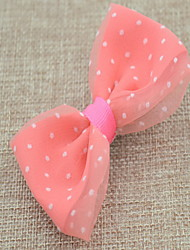 Korean Flower Girl's Bow Dot Fabric Hair Clip
