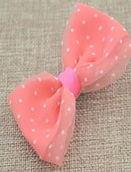dot arco de cabelo de tecido clipe coreano flor da menina