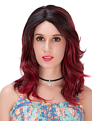 Red black gradient wavy hair wigs.WIG LOLITA, Halloween Wig, color wig, fashion wig, natural wig, COSPLAY wig.