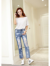 Pantaloni Da donna Jeans Semplice Poliestere Anelastico