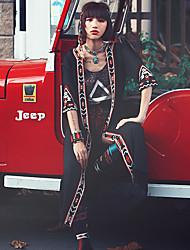 Aporia.As® Mujer Escote en V Profunda Manga Larga Suéter y Cardigan Negro-MZ07076