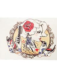 1pc Beauty Women Makeup Comb Rose Flower Arm Waterproof Tattoo Men Body Art Temporary Tattoo Sticker HB-023