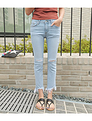 Damen Hose - Retro Jeans Baumwolle Mikro-elastisch