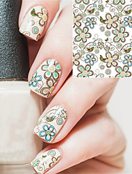 1 sheet Nail Art Water Decals Transfer Stickers Floral Pattern Sticker