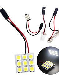 10pcs холодный белый 5050 9SMD водить панели купола свет авто автомобиль интерьер чтения лампа (DC12V)