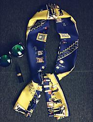 Women Silk Scarf,Fashionable Jewelry SquarePrint