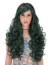 Dark green long hair wig.WIG LOLITA, Halloween Wig, color wig, fashion wig, natural wig, COSPLAY wig.