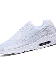 Men's Sneakers Spring / Fall Comfort Tulle Athletic Flat Heel Black / White Walking / Running