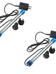 2PCS 20CM 3W 2835 18SMD Aquarium Fish Tank Waterproof Blue/White/multicolorLED Light Bar Submersible Down Lamp AC220V