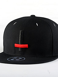 Fashion Men Women Hip Hop Red Black Cross Embroidery Street Dance Baseball Caps